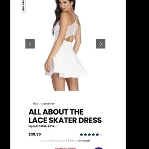 Windsor store all about the lace skater dress